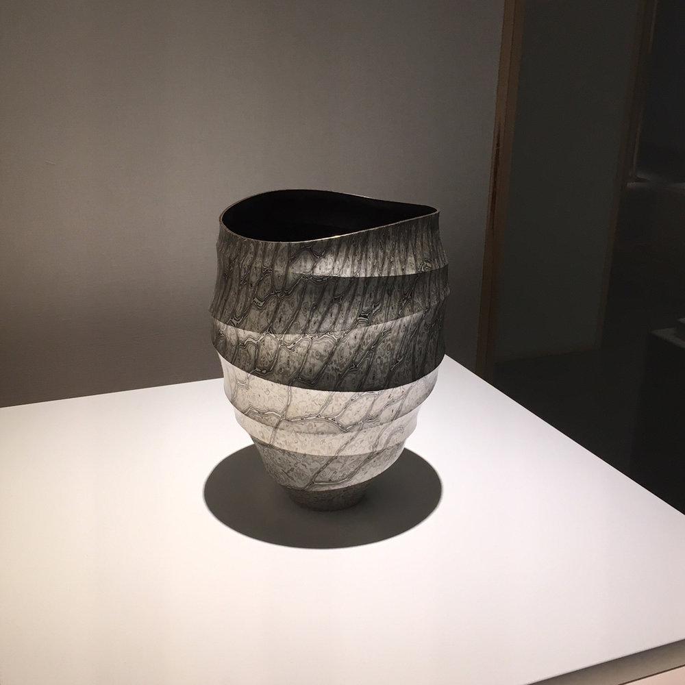 Mokume-gane vase by Ryuhei Sako