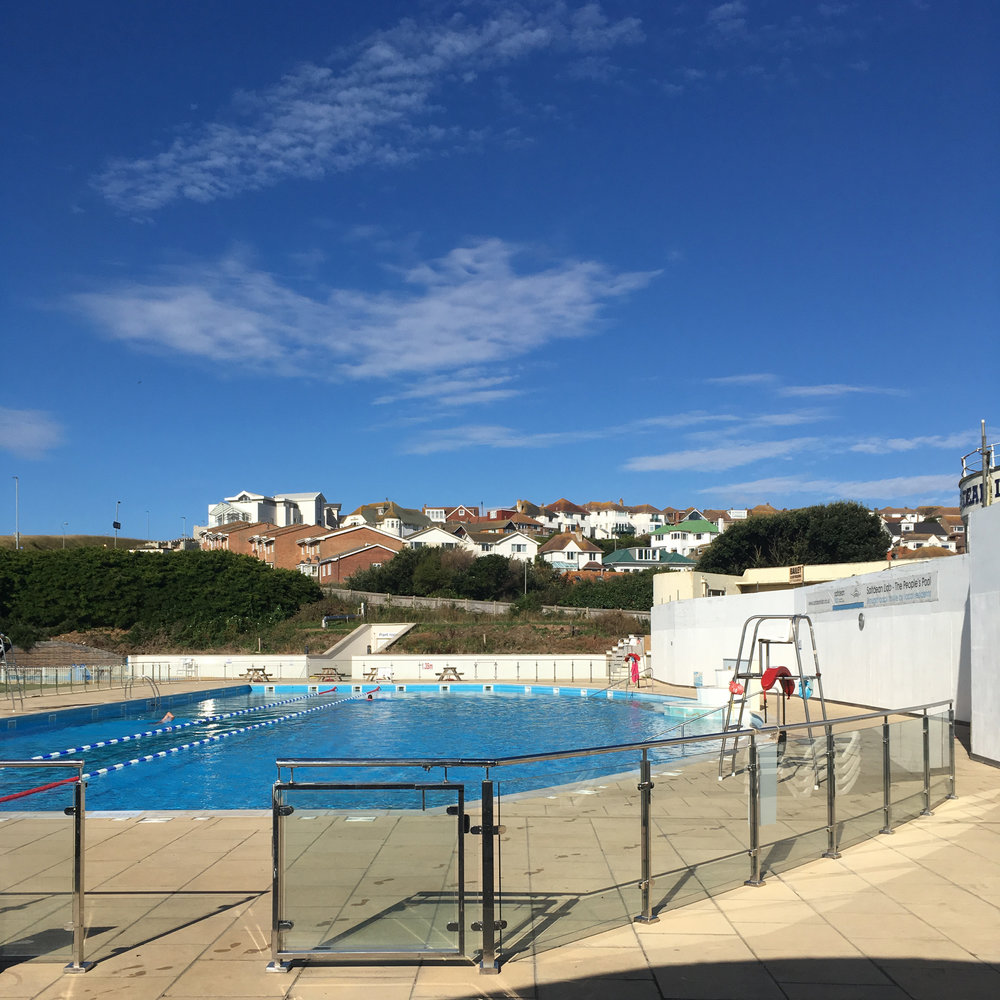 Saltdean Lido - there were only four of us in the pool - bliss!