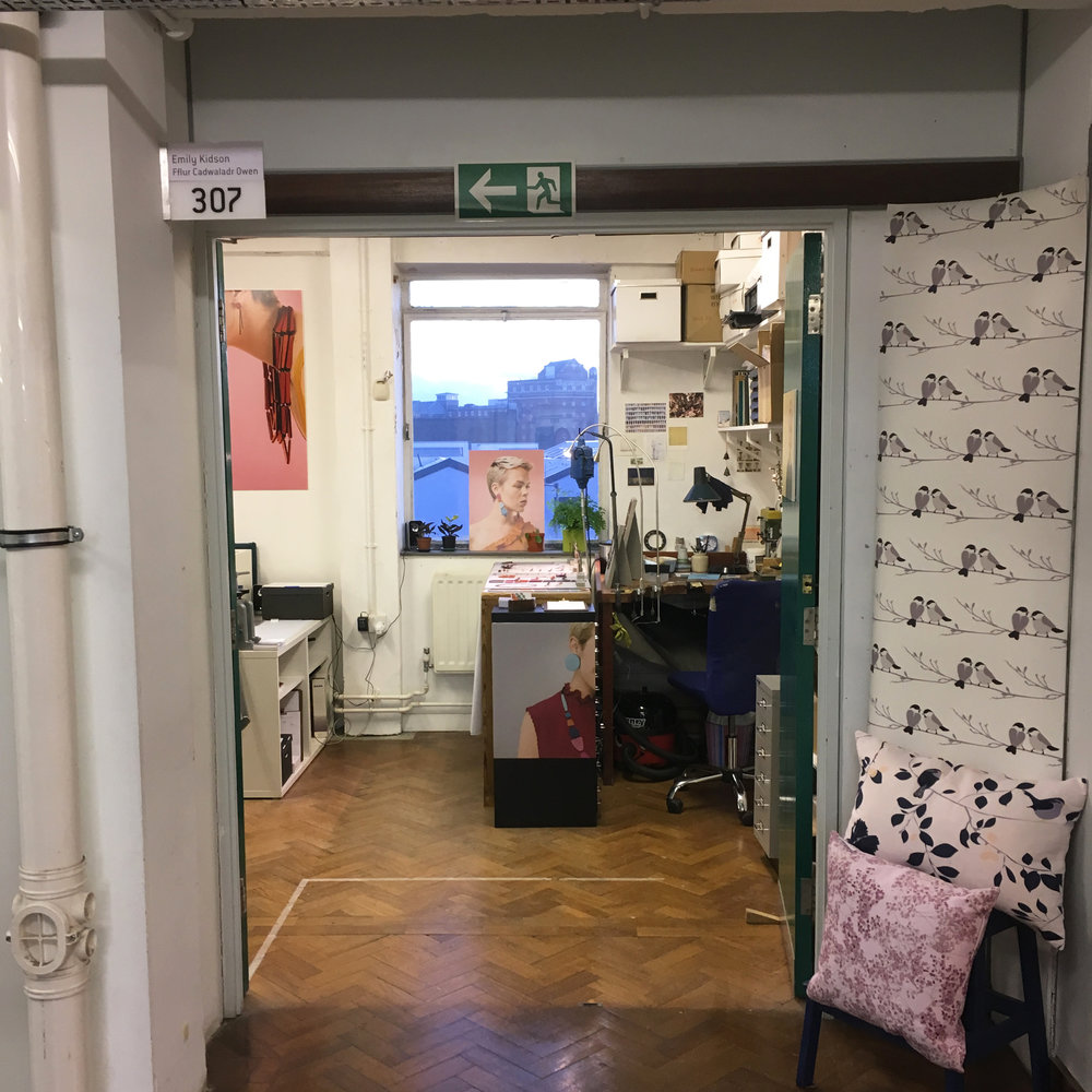 Our studio is right at the end of the corridor which is perfect for open studios!