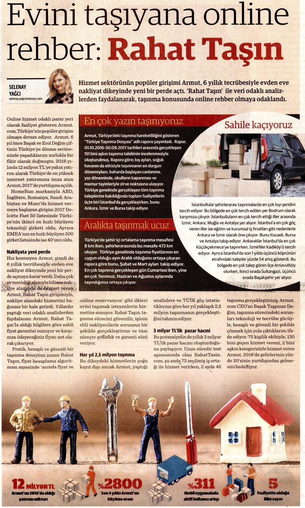 Dünya Gazetesi 19.01.2018