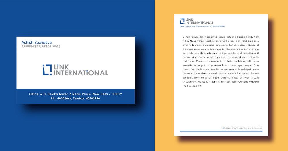 LINK INTERNATIONAL BRANDING & STATIONARY