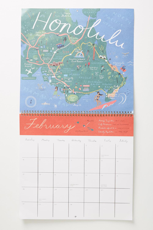 Going Places 2018 Calendar