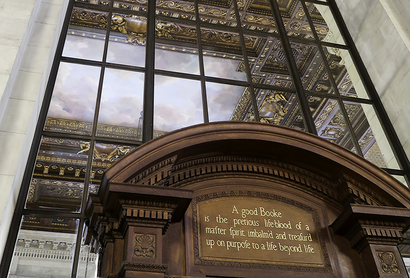 As interesting as the books here is the architecture—and the people watching.