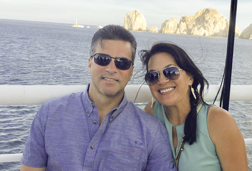Harold and Michele Rapoza on a recent vacation together.