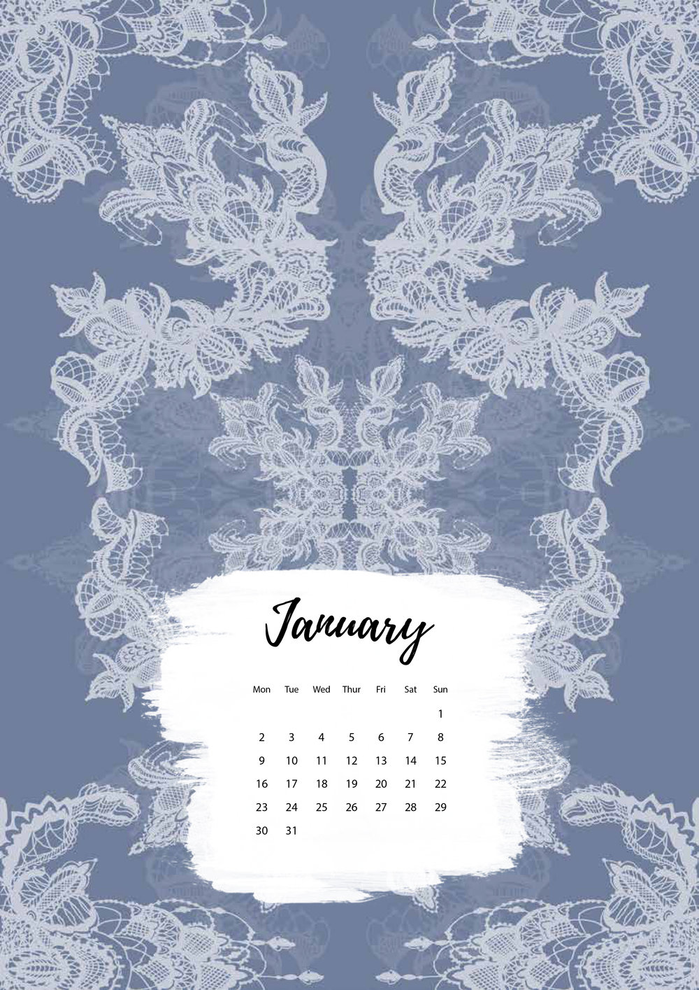 Felicity & Ink | Free Printable Calendar | January 2017-3.jpg