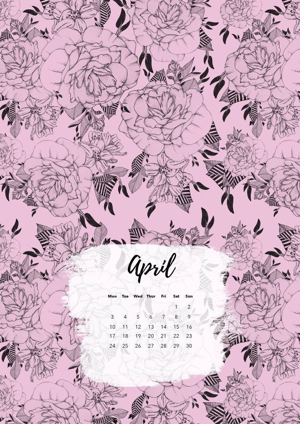 Felicity & Ink - Free Printable Calendar - April 2017.jpg