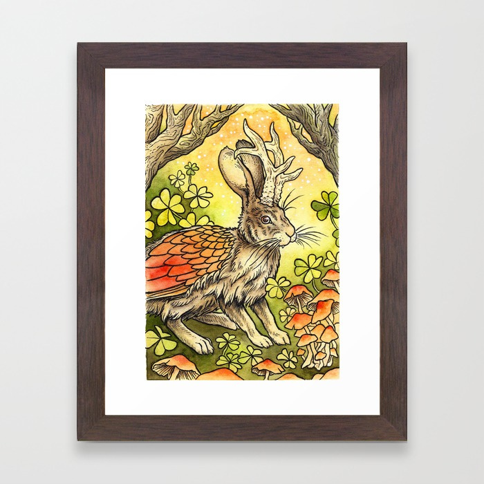 winged-jackalope-in-summer-plumage-framed-prints.jpg