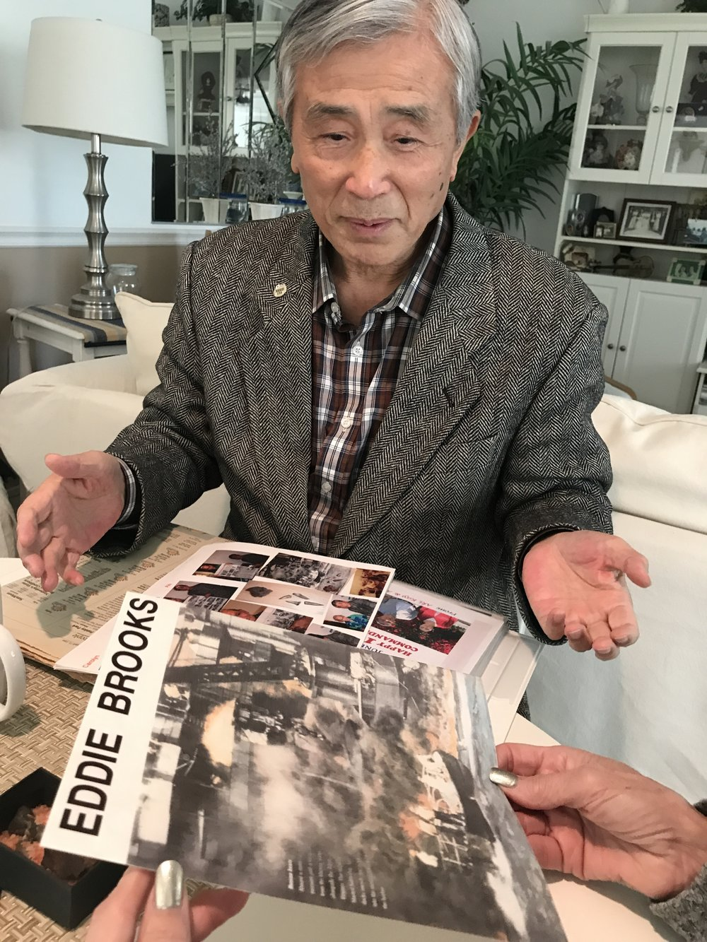 Akira Tsurumake to help find relatives of Japanese Pilot and Crew of the Downed plane where Sam Richiusa took the metal for Two Hearts As One original - Circle of Forgiveness Closes
