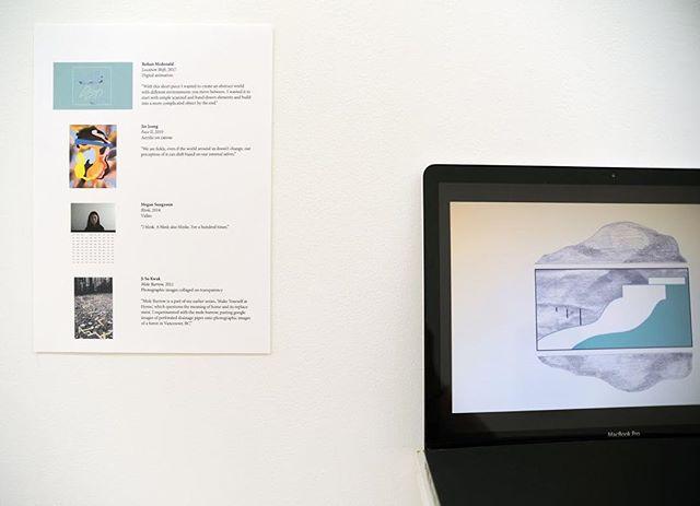 Install shot! #art #exhibition #sendyourlocation #NYC #emergingartist #rohanmcdonald #virtual #opening