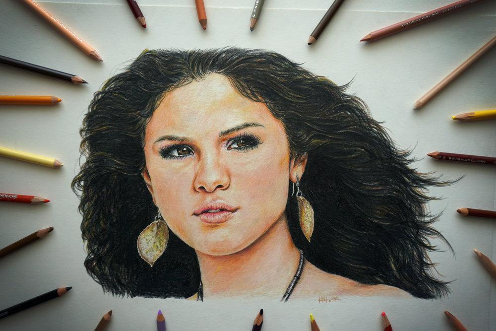 Selena Gomez - Colored Pencil ■ 14