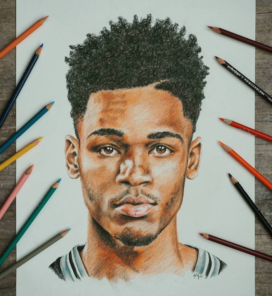 Dejounte Murray - Colored Pencil ■ 11