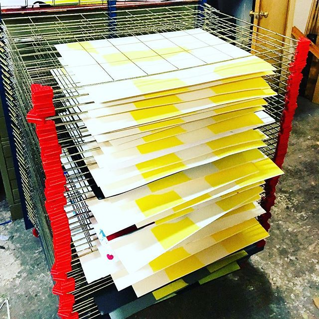 #timetomakethedonuts #screenprinting #artprinting #mellowyellow #nicerack
