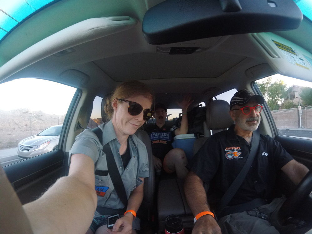 Cruising to the CrossVegas course with our host Ben.