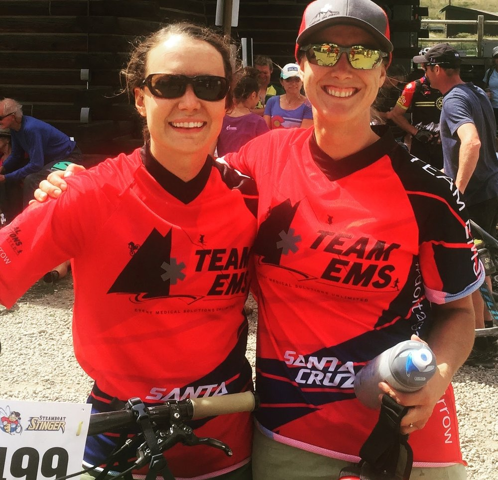 teamEMS lady duo at Steamboat Stinger MTB