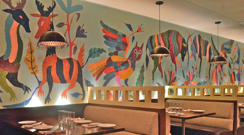Dos Caminos Restaurant, Mural, Park Ave, NYC