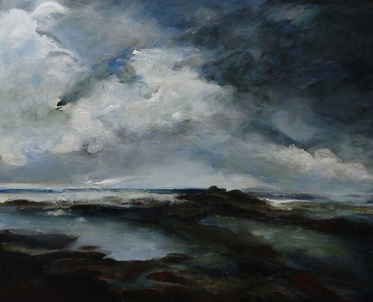 rock pools - Oil on canvas, 150x 137 cms