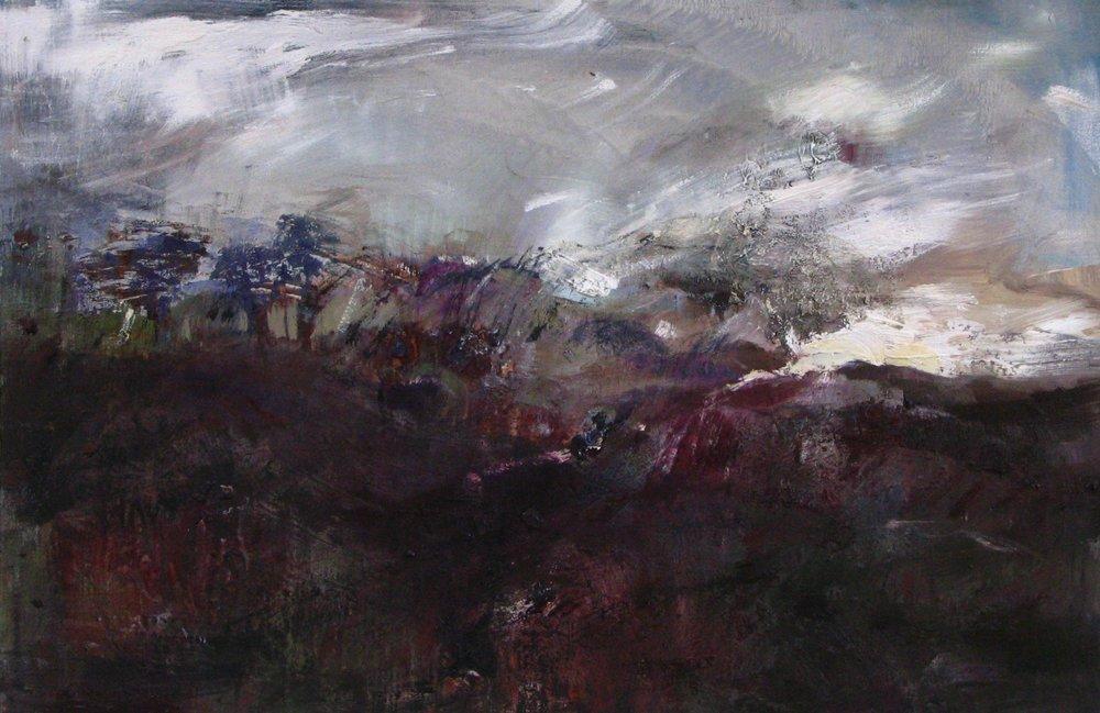 winter - Oil on canvas, 95x 65 cms