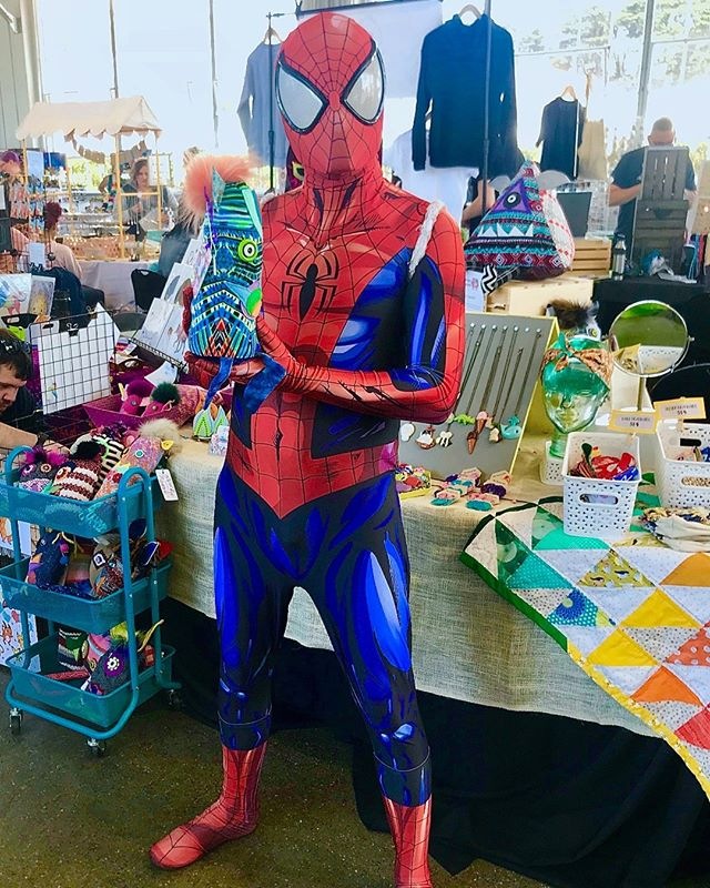 We have no doubt that, in some alternative dimension, there is a Spidersqueeble kicking butt and saving lives. @marvel, let us know when the movie comes out. . . . . . . #projectsqueeble #marvel #spiderman #spiderverse  #playfriend #artistsharing #happyartistmovement #fiberartistsofinstagram #upcycledesign #hurrayforplay #needleandthread #makeitsewcial #textilesdesign #makersvillage #modernmaker #creatorslane #createcultivate #showyourwork #seekinspirecreate #makerfaire #fiberarts #superhero #comics  #handmadewithlove #creativityfound #makersmovement #makersgonnamake #sanfrancisco #streetfashion #textiles