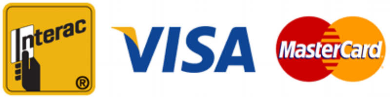 -             We accept Visa, MasterCard, and Debit