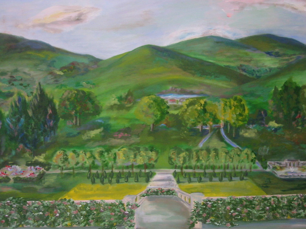 "Edith Wharton's The Mount, 1910, 28"" x 26"""