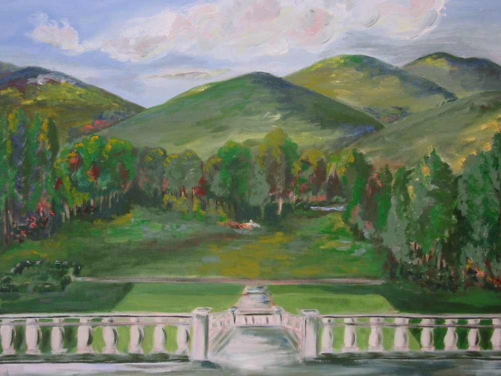 "Edith Wharton's The Mount, 1995, 28"" x 26"""