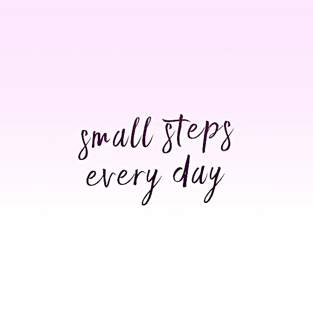 Very, very small ones at the moment! #staystrong . . . #keeptrying #staypositive #keepfighting #nevergiveup #stayfocused #selfcare