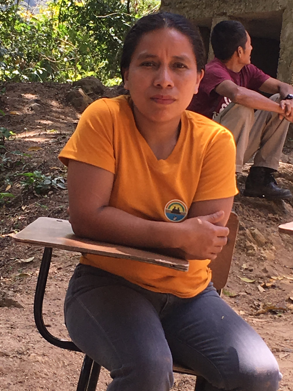 Maritza Linares is the teacher of the one-room El Zapotal school, the head of the health committee and the head of the water board.