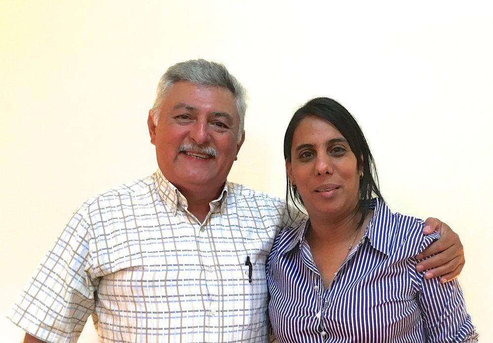 Roy Lara and Miriam Lopez, Mayor of Chinda Municipality