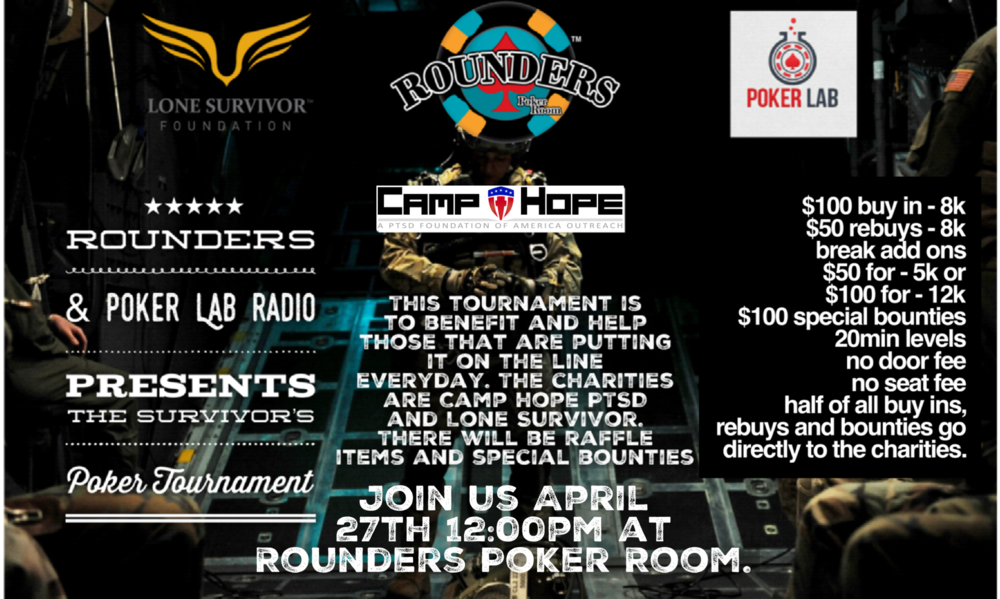 Lots of exciting stuff happening, first up is our first charity tournament in collaboration with our friends at Poker Lab Radio and all the amazing sponsors and supporters involved. Special guest, food, fun, special raffle items and so much more packed into a great day. Lots of updates and need to know info will be released over the next few weeks. Come out and support the great cause.