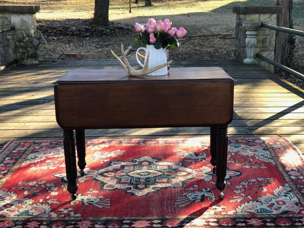 DIANA:  Victorian Pembroke Table $250 Dimensions: 35.5x18x25