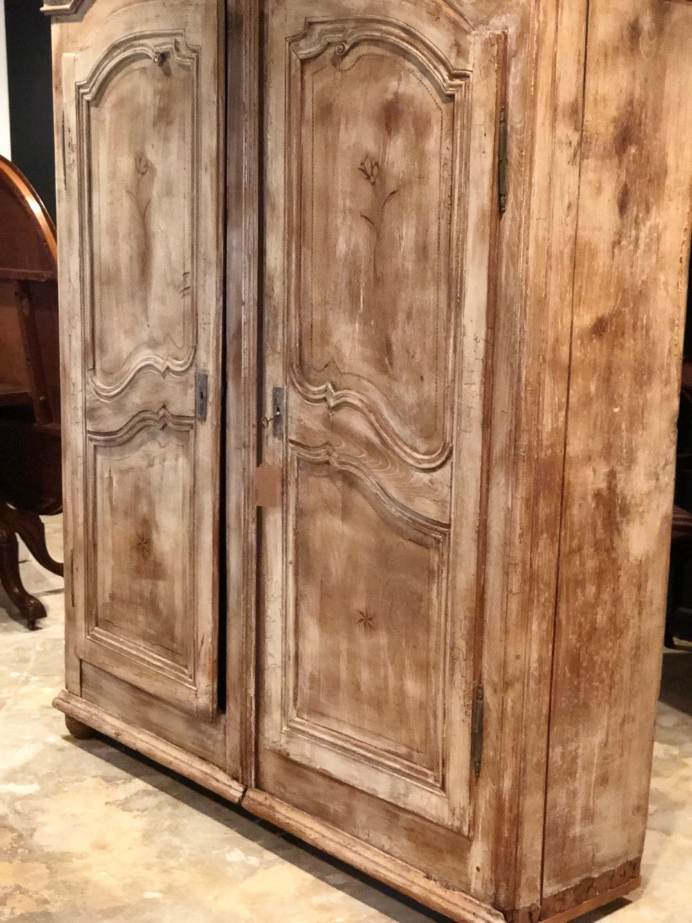 ROSE:  French Bleached Oak Armoire $2,395