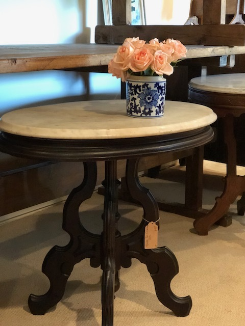 REESE:  Marble Top Occasional Table $450