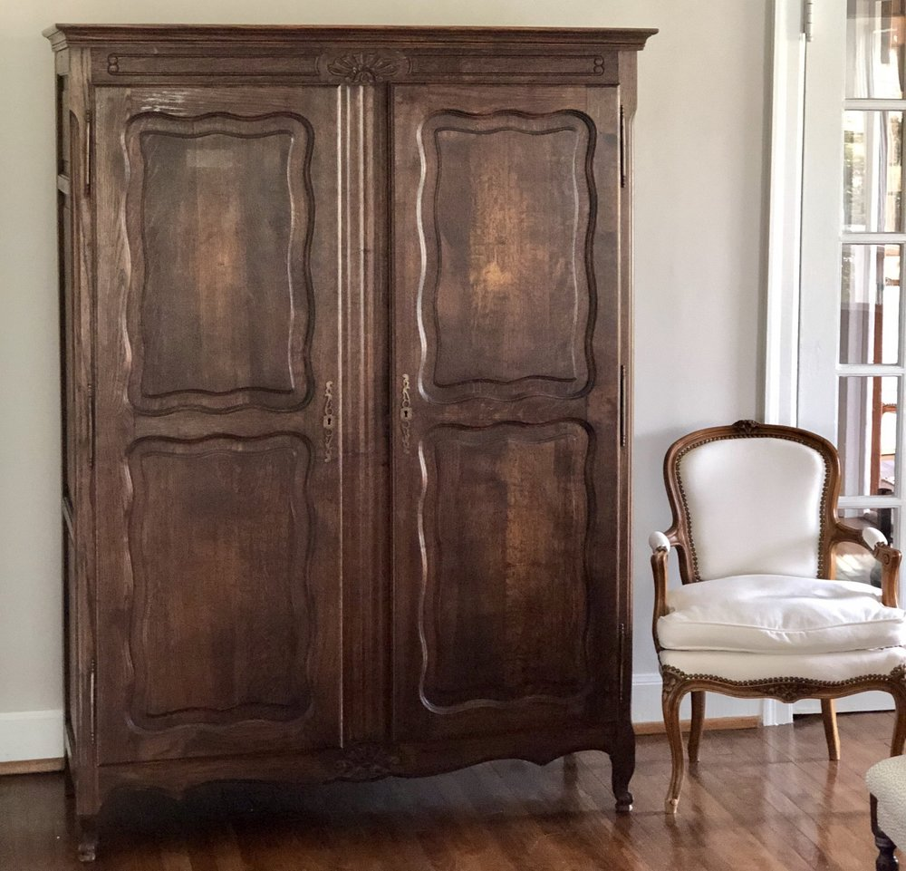 SUSANNA:  Country French Oak 2-Door Armoire $950