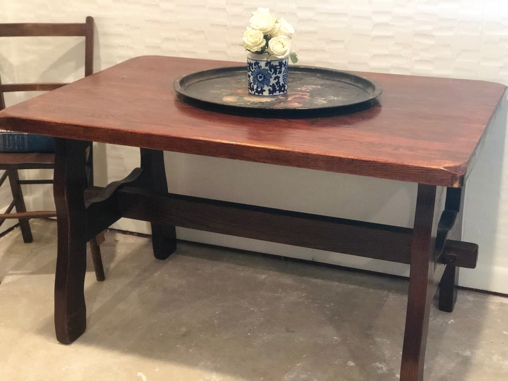SMITH:  Oak Refectory Breakfast Table $500