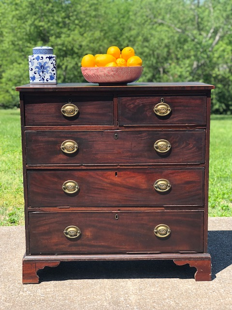 AVERY:  Victorian Mahogany 2-Over-3 Drawer Chest $875  Dimensions: 40x18.5x42