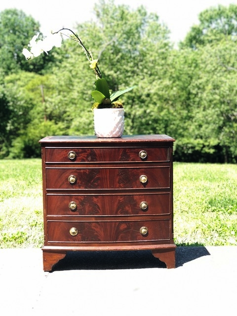 CARLISLE:  Victorian Mahogany Bowfront Chest $295 Dimensions: 30x17x30