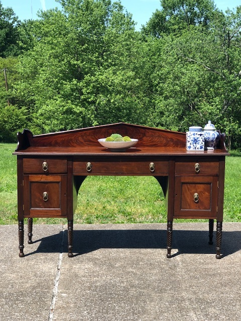 CHESTER:  Victorian Mahogany 6-Leg Sideboard $875 Dimensions: 71.25x22x36