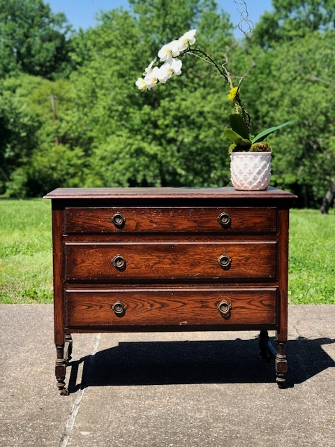 TILLY:  Oak Dressing Chest $575 Dimensions: 41x18x33