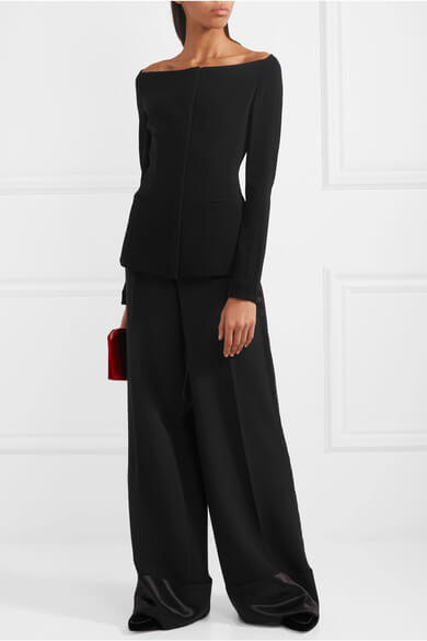 Women's Theory Off-The-Shoulder Crepe Jacket - $475