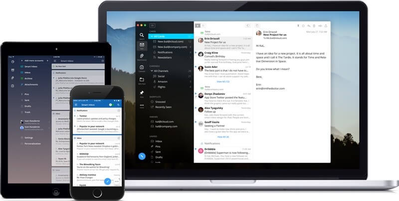 Spark Email - This is a Mac based email system that works on Apple desk- and laptops, iPad, iPhone, and Apple Watch