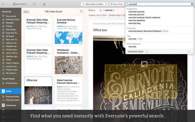 Evernote - Note taking on steroids!
