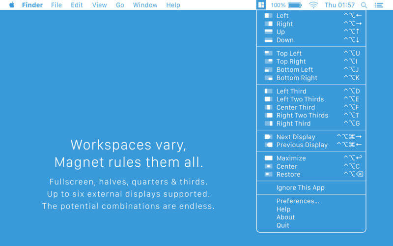 Magnet - A window organizer and desktop manager for Mac