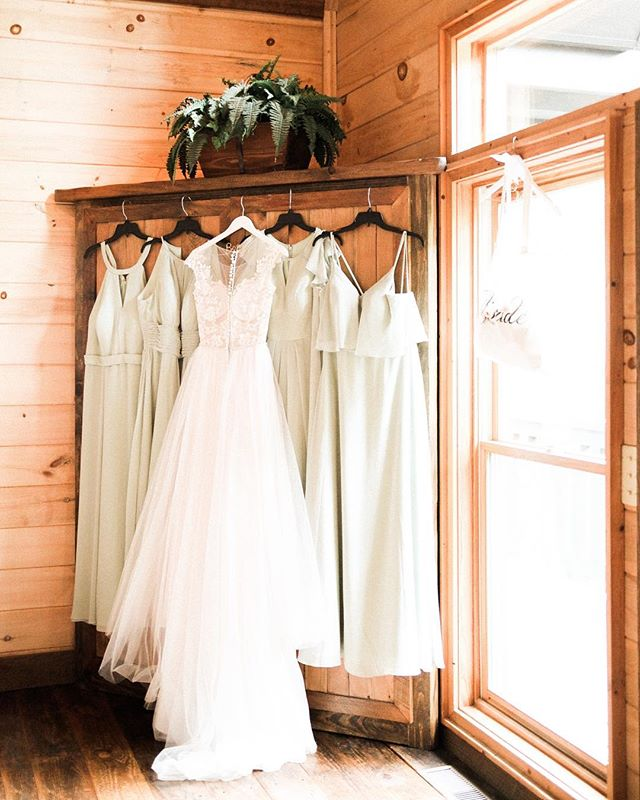 There is something about a wedding gown sitting pretty and waiting to be worn 🌱