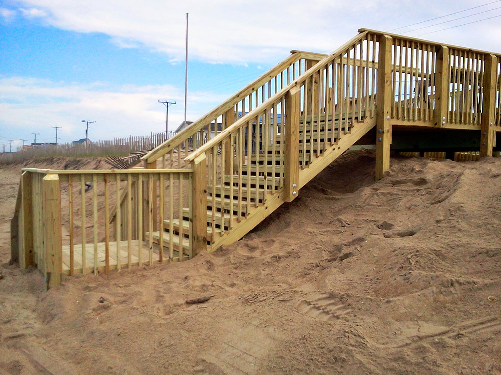 Ocean Dune Walkways - Construct ocean dune walkway that provide ocean front access.