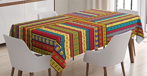 Attrayant African Print Tablecloth   Multicolor