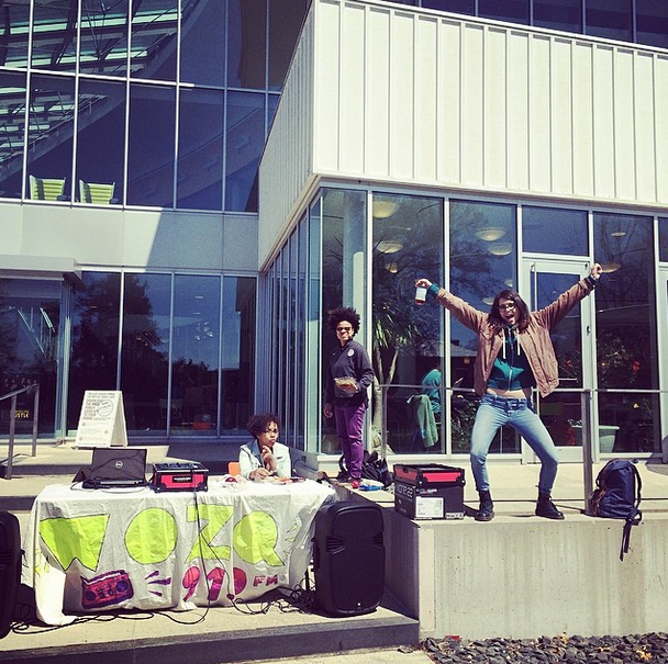 WOZQ DJs provide students at Chapin Lawn musical entertainment. Follow WOZQ on instagram at: @wozq919fm