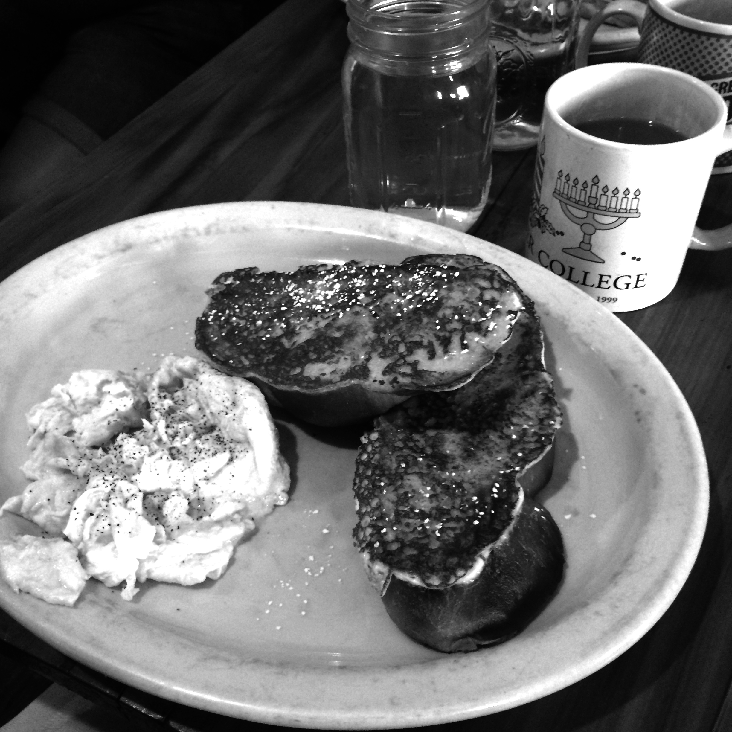 """Customers can choose between a mix of pancakes or French toast with eggs, tofu or tempeh in this delectable dish called """"This N That."""" Photo by Veronica Brown"""