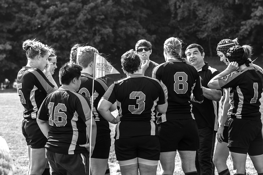 Photo by Jen Zhu '16 Smith Rugby starts the season strong by winning their first match.