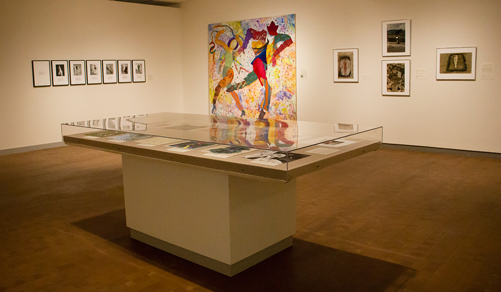 Martha Wilson's works are on display at the Smith College Museum of Art.