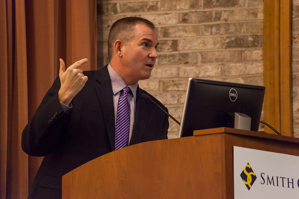 Photo by Carolyn Brown '16 | Frank Bruni's talk was the second lecture of the Presidential Colloquium series this semester.